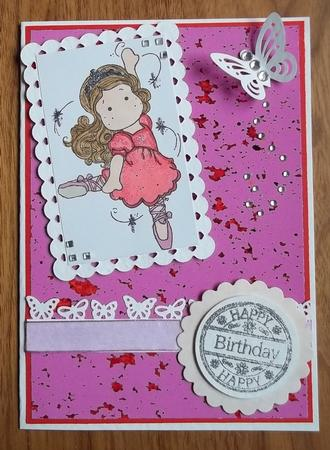 Card Gallery - Dusky Pink Speckle Background