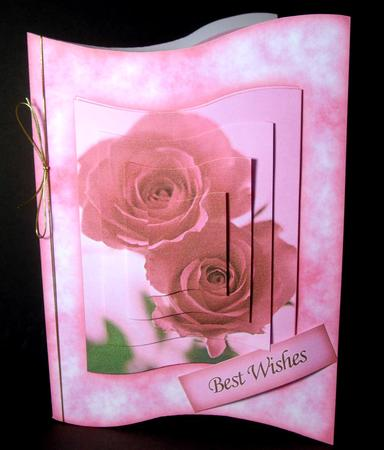 Card Gallery - Pink Roses Wave Card Kit