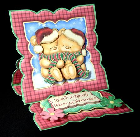 Card Gallery - ALL WRAPPED UP Christmas Easel Card Kit & Decoupage