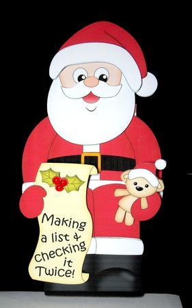 Card Gallery - 3D On the Shelf Card Kit - Christmas Santa's List
