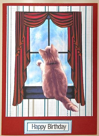 Card Gallery - Purrrfect view from my window 3