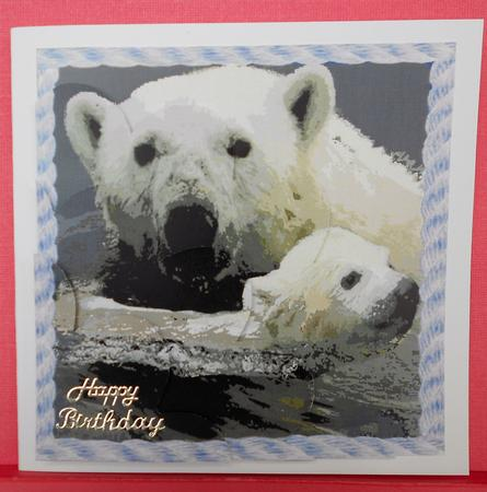 Card Gallery - Swimming Lesson - Shell Edged Corner Side Stacker