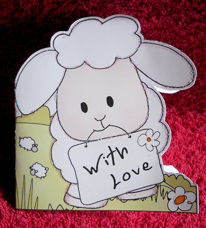 Card Gallery - Little Lamb shaped With Love card