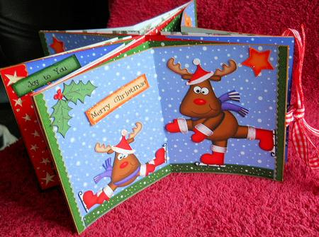 Card Gallery - 3D Christmas Rudolph Carousel Card Kit