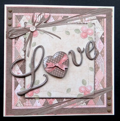 Card Gallery - Patchwork Love - Decoupage Card
