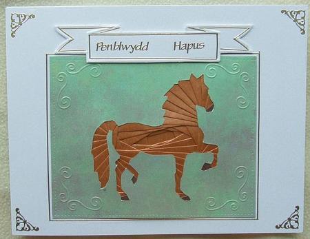 Strutting Horse Iris Folding Pattern Cup52859 601