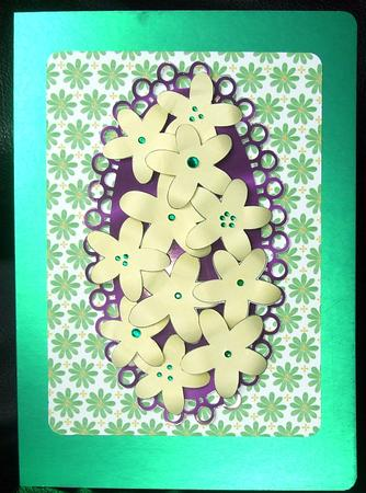 Card Gallery - 5 Petal Layering Flower Template