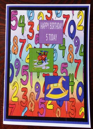 Latest Upload - Balloon Numbers - Set of 12 Backing Papers