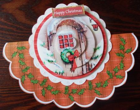 Card Gallery - THE CHRISTMAS DOOR - PYRAMID ROCKER CARD KIT
