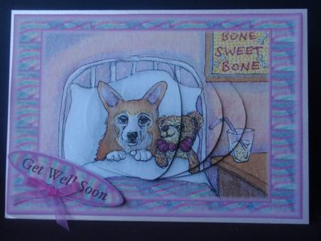 Get well dog and teddy in Card Gallery