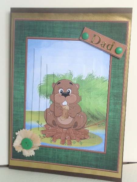 Beaver Card Front in Card Gallery