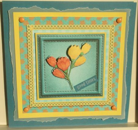 Freesia Decoupage in Card Gallery