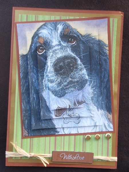 Wistful spaniel pyramid topper in Card Gallery