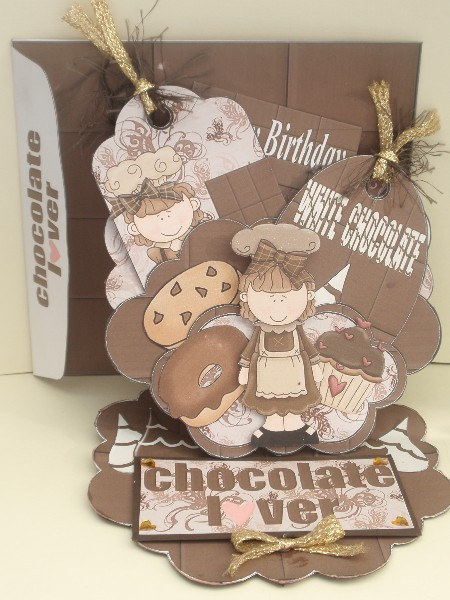 Chocoholic pocket easel card kit in Card Gallery
