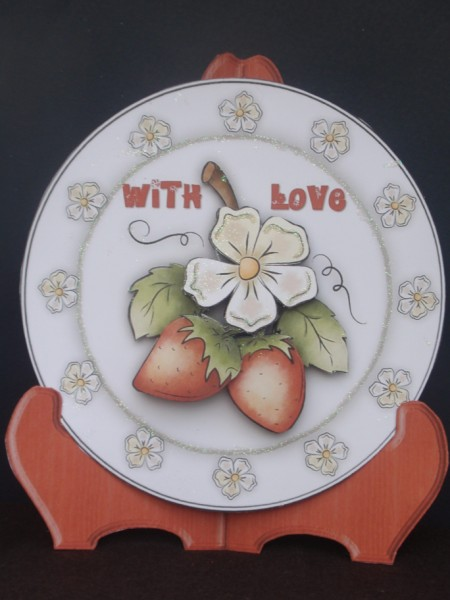 Strawberry Fields Forever Plate Card and Stand in Card Gallery