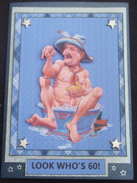 Man in the Bath in Card Gallery
