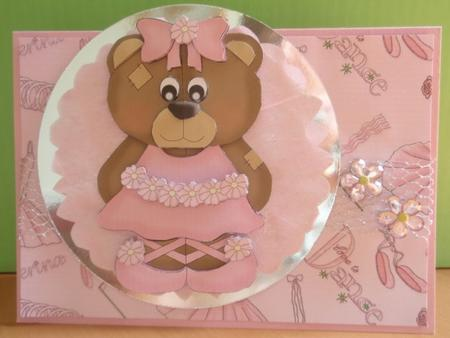 Rosie the Ballerina Bear Step-by-step Sheet in Card Gallery