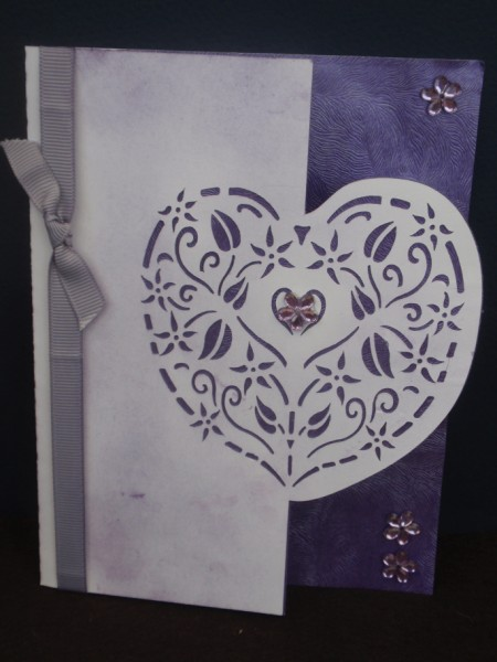 Heart Over the Edge Card in Card Gallery