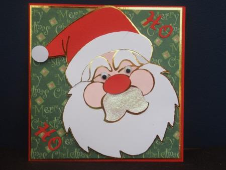 Layerd Christmas Santa Head - GSD in Card Gallery