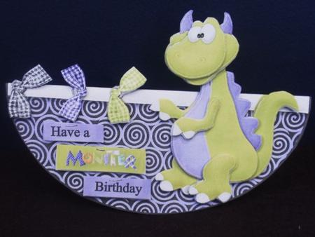 Have a Monster Birthday No Hole Over the Edge Wobble Card in Card Gallery