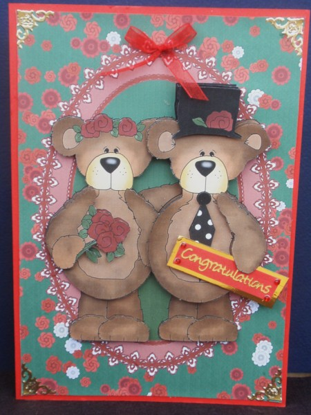 Teddy Bear Romance A5 Card with Decoupage in Card Gallery