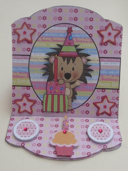 Hoggie Birthday Easel Card 1 in Card Gallery