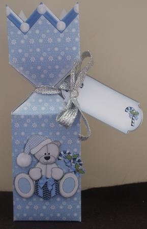 Tri-Sided Half Cracker Box Blue Ted in Card Gallery