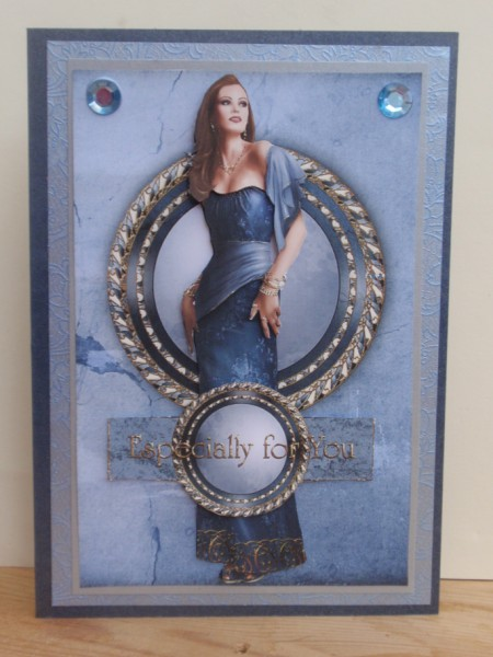 Art Deco Lady Pearl (Blue) in Card Gallery