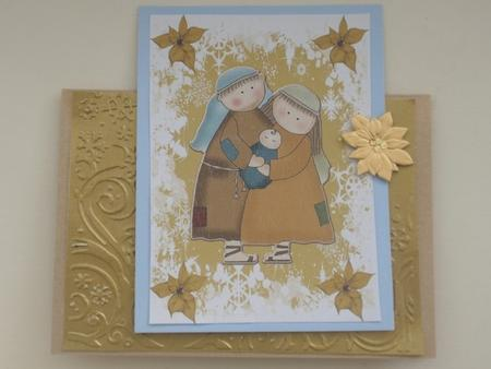 A4 Mary,Joseph and Jesus in Card Gallery
