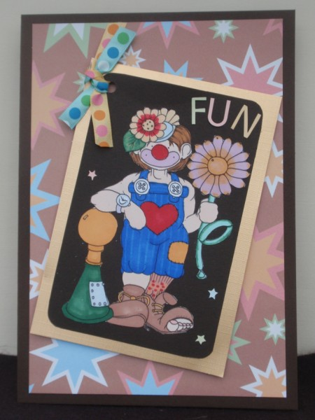 Horny Clown Doodles Digital Stamp in Card Gallery