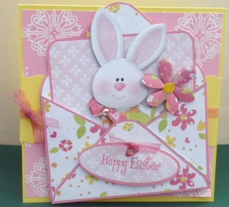 Card Gallery - Mock Envelope Topper - Hoppy Easter