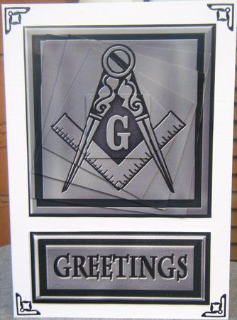 Card Gallery - MASONIC GREETING TWIST TOPPER