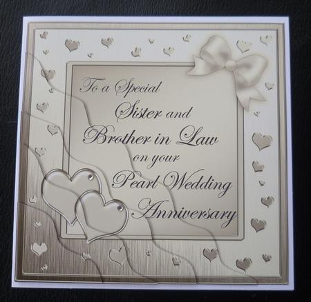 Wedding Anniversary Gift For Brother In Law : Sister and Brother in Law Pearl Wedding AnniversaryCUP215396_359 ...