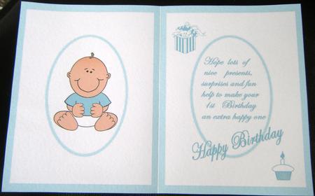 Baby Boy First Birthday Poem