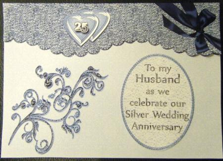 Silver Wedding Anniversary Presents Husband : Husband/wife Silver Wedding Anniversary - CUP65343_478 Craftsuprint