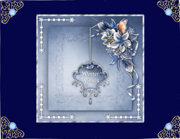Winter Flowers Square Card Front with Step by Step in Card Gallery