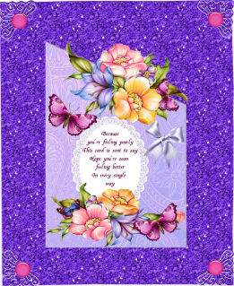 Over the Edge Get Well Flowers in Card Gallery