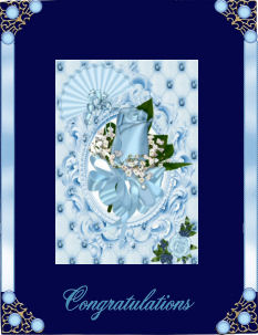 Pretty in Blue, Oval Pyramids in Card Gallery