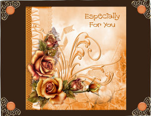 Gold Roses Especially For You 7x7 in Card Gallery