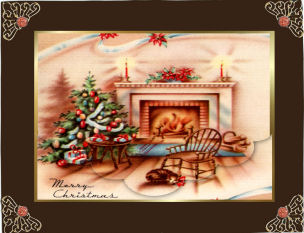 a Christmas Fireside Welcome in Card Gallery