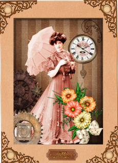 Steampunk - Edwardian Lady in Card Gallery