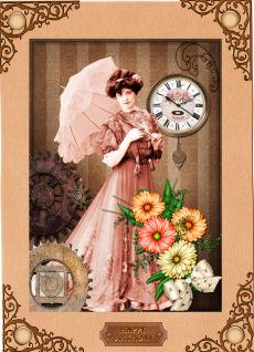 Steampunk - Edwardian Lady in Card Gallery