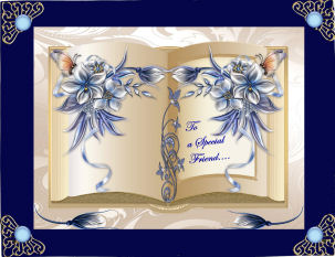 Beautiful Bleu Book in Card Gallery
