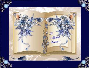 Beautiful Bleu Book in Card Gallery