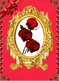 Oval Red Rose in Card Gallery