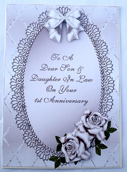 1st Wedding Anniversary Gift For Daughter And Son In Law : Lilac Roses 1st Wedding AnniversarySon & Daughter in LawCUP87407 ...