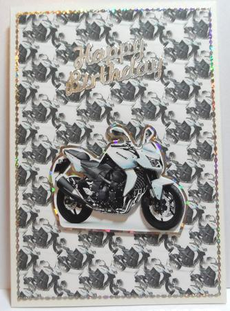 Motorbike Decoupage in Card Gallery