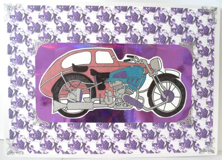 Vintage Bike & Sidecar Circa 1955 in Card Gallery