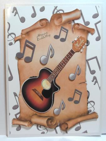 Guitar & Music Notes A4 in Card Gallery