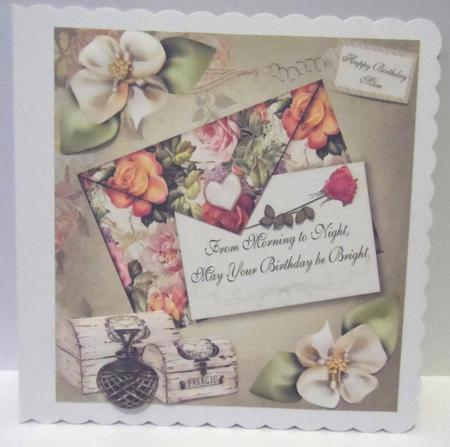 Just a Birthday Note Card Topper & Decoupage in Card Gallery
